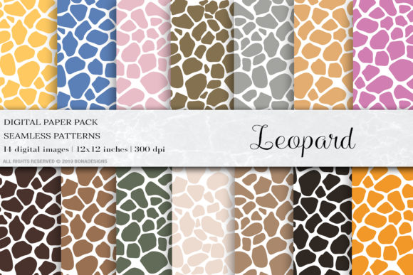 Download Free Leopard Digital Papers Leopard Patterns Graphic By Bonadesigns for Cricut Explore, Silhouette and other cutting machines.
