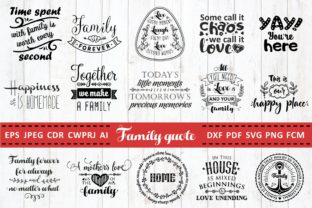 Download Free Love Family Quotes Bundle Graphic By Millerzoa Creative Fabrica for Cricut Explore, Silhouette and other cutting machines.