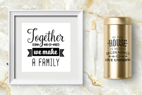 Print on Demand: Love Family Quotes. SVG Bundle Graphic Crafts By millerzoa - Image 12