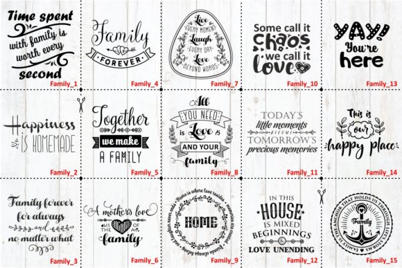 Download Free Familie Liebe Zitate Svg Bundle Grafik Von Millerzoa for Cricut Explore, Silhouette and other cutting machines.