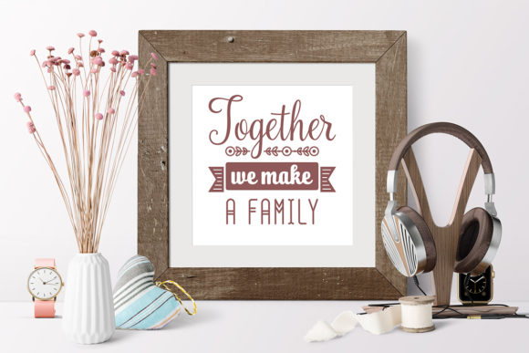 Print on Demand: Love Family Quotes. SVG Bundle Graphic Crafts By millerzoa - Image 5