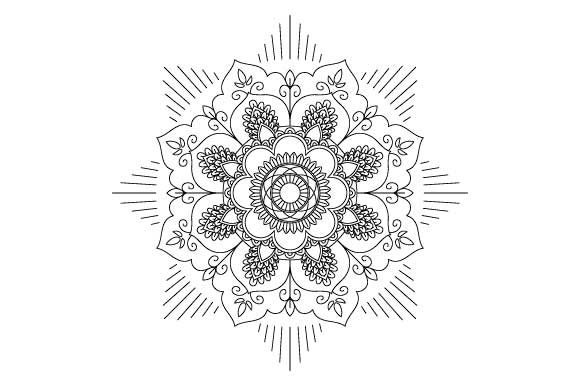 Download Free Mandala Coloring Page Vector Graphic By Graphicsfarm Creative for Cricut Explore, Silhouette and other cutting machines.