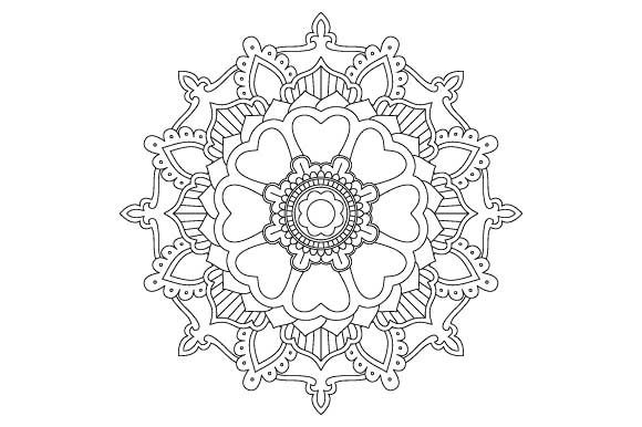 Mandala Coloring Page Vector Graphic Illustrations By GraphicsFarm