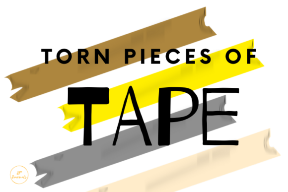 Print on Demand: Pieces of Torn Adhesive Tape Graphic Illustrations By jpjournalsandbooks
