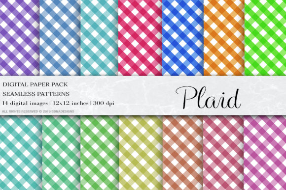 Plaid Seamless Patterns Graphic Patterns By damlaakderes