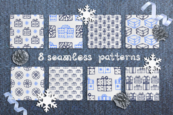 Seamless Patterns: Giftboxes Graphic Patterns By AV Design