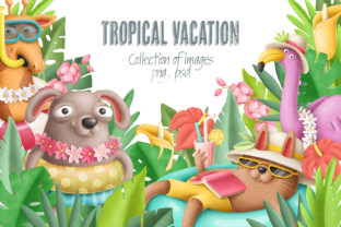 Print on Demand: Tropical Vacation Clipart Graphic Illustrations By Architekt_AT