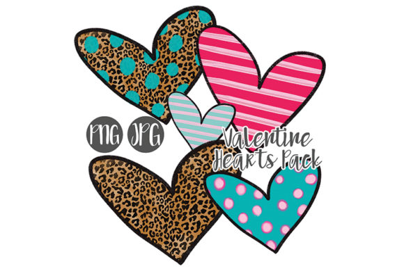 Print on Demand: Valentine Hearts Clipart Pack Gráfico Ilustraciones Por boecustomdesign