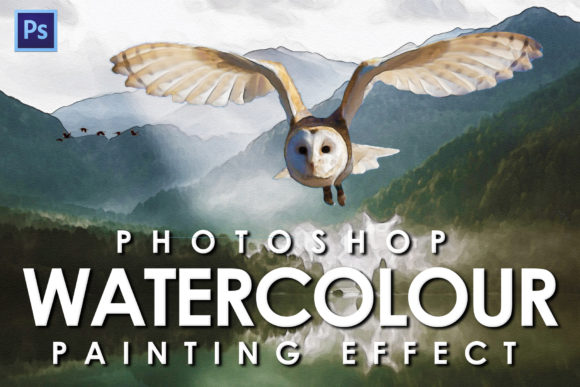 Print on Demand: Watercolour Photoshop Action Graphic Actions & Presets By denestudios