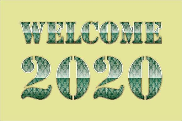 Download Free Welcome 2020 Art Deco Inspired 02 Graphic By Graphicsfarm for Cricut Explore, Silhouette and other cutting machines.