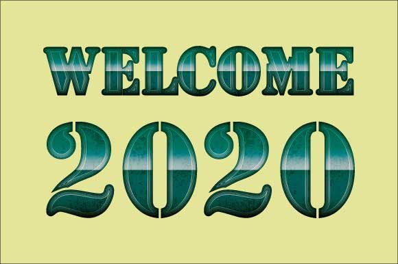 Download Free Welcome 2020 Art Deco Inspired 10 Graphic By Graphicsfarm for Cricut Explore, Silhouette and other cutting machines.