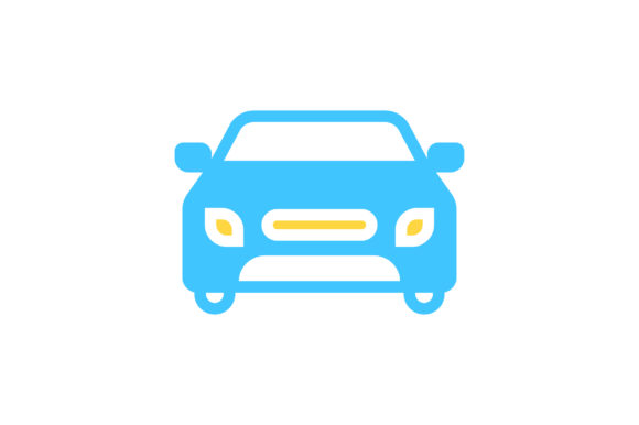 Download Free Car Flat Icon Vector Graphic By Riduwan Molla Creative Fabrica for Cricut Explore, Silhouette and other cutting machines.