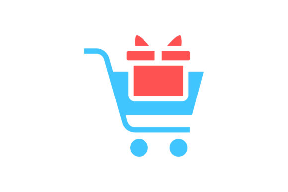 Download Free Cart With Gift Box Flat Icon Vector Graphic By Riduwan Molla for Cricut Explore, Silhouette and other cutting machines.