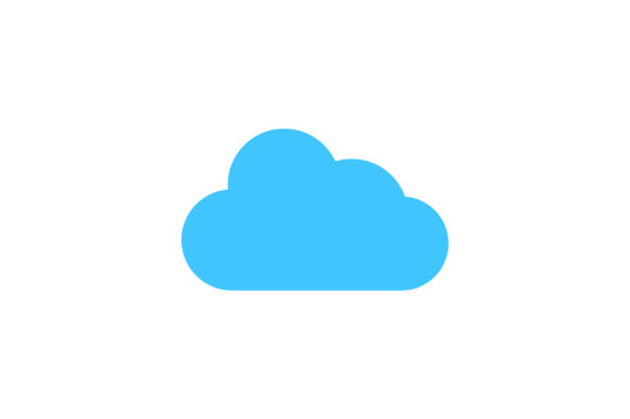 Download Free Cloud Flat Icon Vector Graphic By Riduwan Molla Creative Fabrica SVG Cut Files
