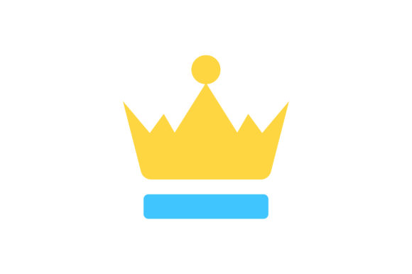 Download Free Crown Flat Icon Vector Graphic By Riduwan Molla Creative Fabrica for Cricut Explore, Silhouette and other cutting machines.