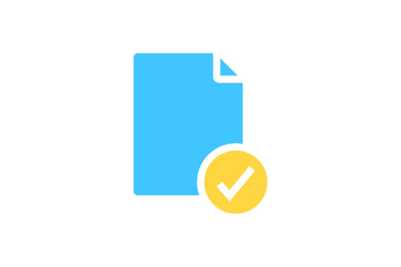 Download Free Document With Check Mark Flat Icon Graphic By Riduwan Molla for Cricut Explore, Silhouette and other cutting machines.