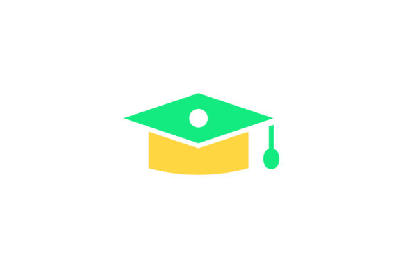 Download Free Graduation Cap Flat Icon Vector Graphic By Riduwan Molla for Cricut Explore, Silhouette and other cutting machines.