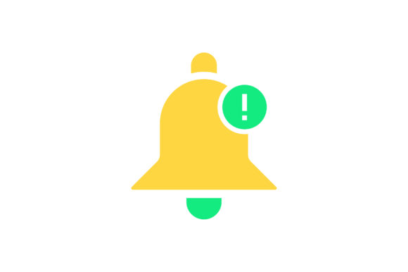 Download Free Information Bell Flat Icon Vector Graphic By Riduwan Molla for Cricut Explore, Silhouette and other cutting machines.