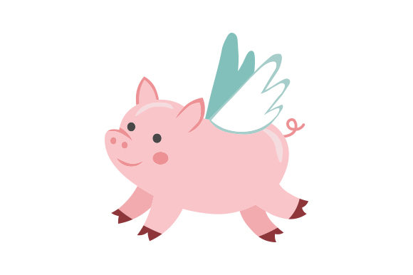 Download Free Cute Flying Pig Svg Cut File By Creative Fabrica Crafts for Cricut Explore, Silhouette and other cutting machines.
