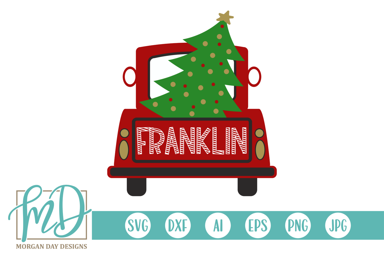 Download Free Christmas Tree Truck Graphic By Morgan Day Designs Creative for Cricut Explore, Silhouette and other cutting machines.