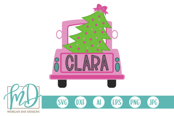 Print on Demand: Christmas Tree Truck Graphic Crafts By Morgan Day Designs