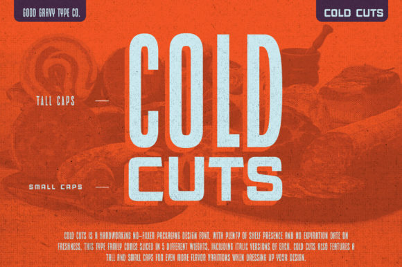 Print on Demand: Cold Cuts Sans Serif Font By Good Gravy Type