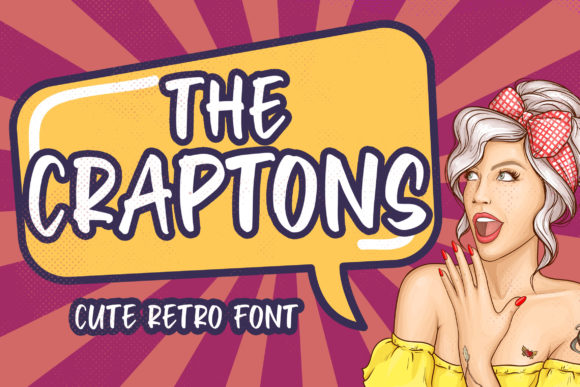 Print on Demand: Craptons Display Font By Blankids Studio - Image 1