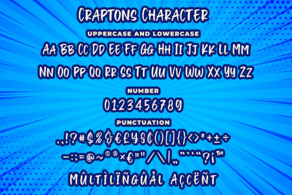 Print on Demand: Craptons Display Font By Blankids Studio - Image 3