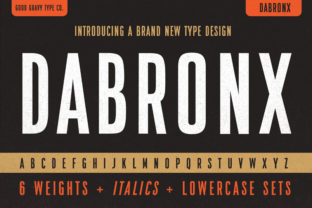 Print on Demand: Dabronx Sans Serif Font By Good Gravy Type