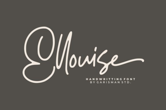 Print on Demand: Ellouise Script & Handwritten Font By Garisman Studio