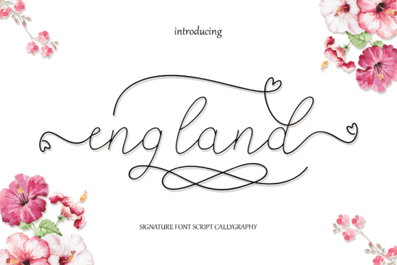 Print on Demand: England Script & Handwritten Font By MYdesign