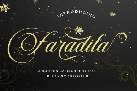 Download Free Faradila Font By Viewtype Creative Fabrica for Cricut Explore, Silhouette and other cutting machines.