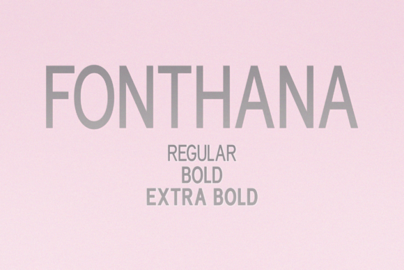 Print on Demand: Fonthana Sans Serif Font By Shanaya Creative