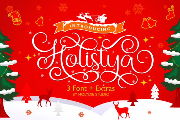 Print on Demand: Holistya Script & Handwritten Font By Holydie Studio