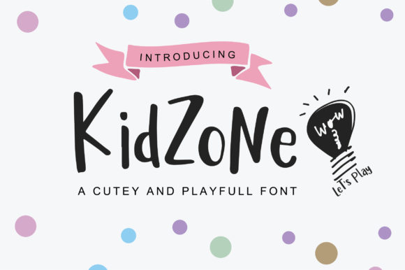 Print on Demand: Kidzone Script & Handwritten Font By bitongphoto