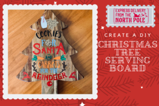 Christmas Tutorial: How to create a Christmas Tree Serving Board