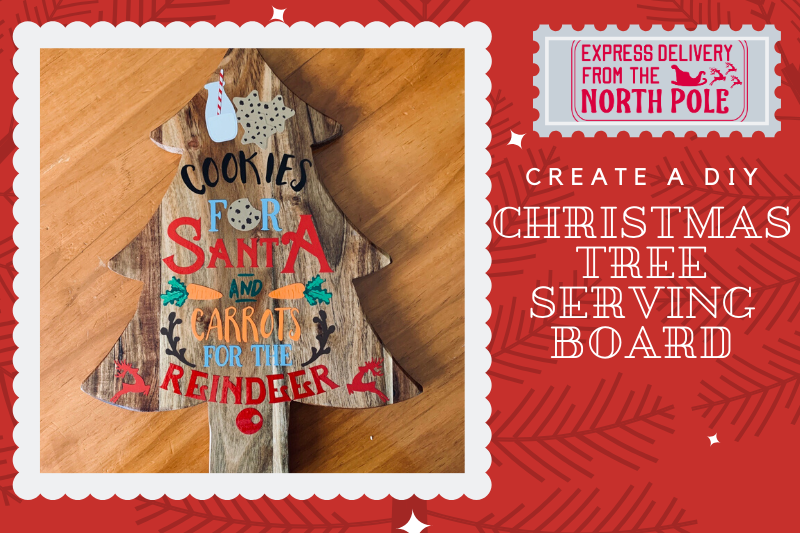 Christmas Tutorial: How to create a Christmas Tree Serving Board main article image