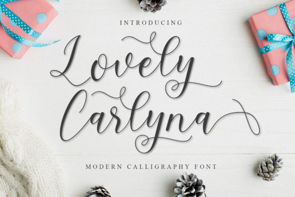 Print on Demand: Lovely Carlyna Script & Handwritten Font By MJB Letters