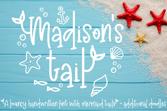 Print on Demand: Madison's Tail Display Font By freelingdesignhouse