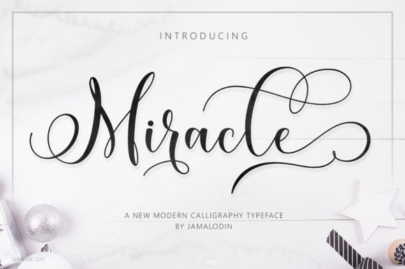 Print on Demand: Miracle Script & Handwritten Font By Jamalodin