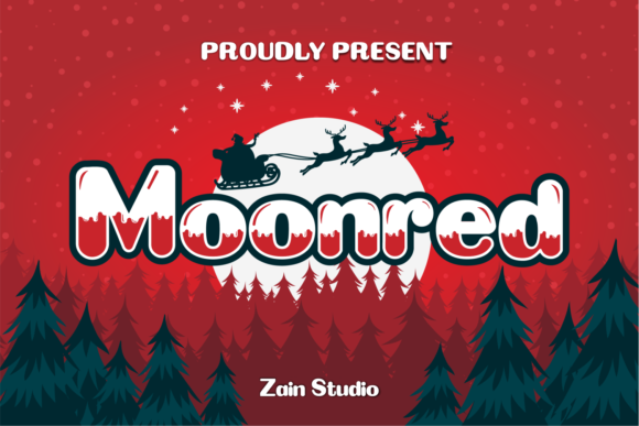 Print on Demand: Moonred Display Font By zainstudio