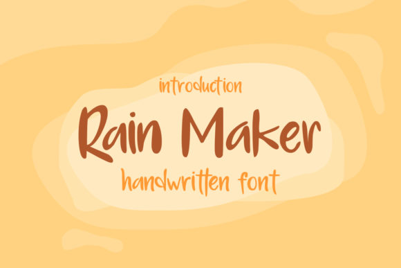Print on Demand: Rain Maker Script & Handwritten Font By Nico Muslib