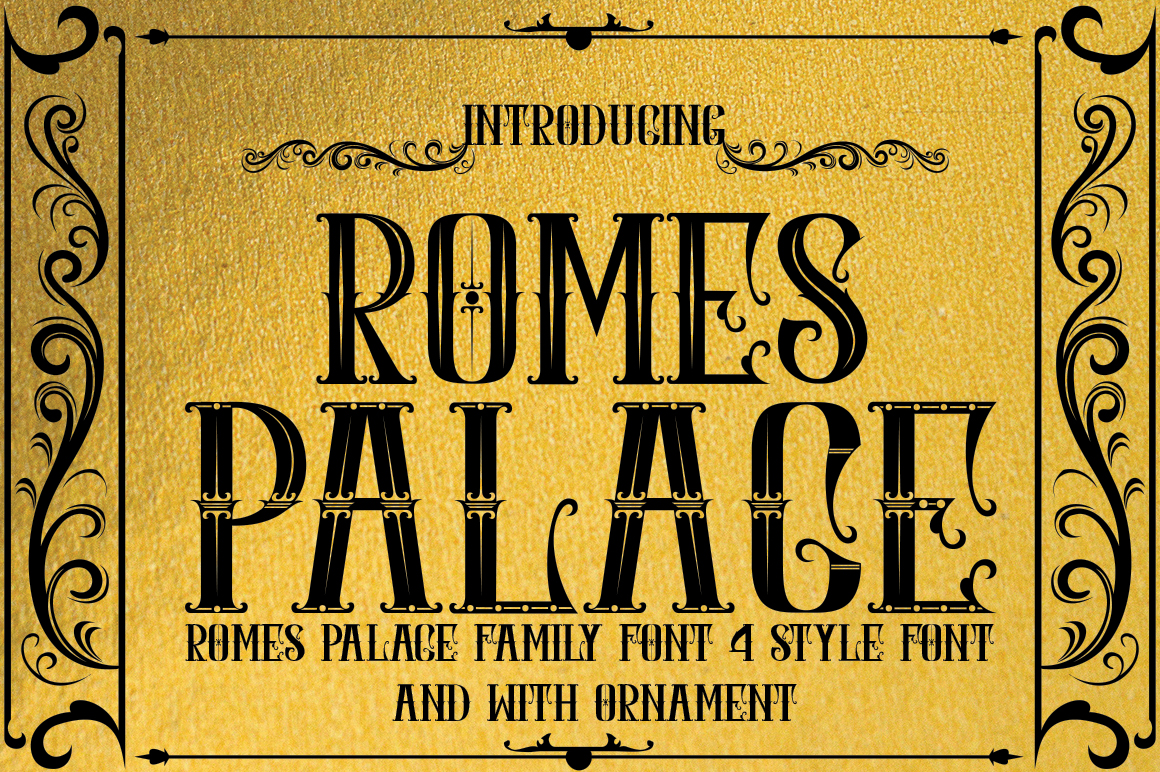 Download Free Romes Palace Font By Jehansyah251 Creative Fabrica for Cricut Explore, Silhouette and other cutting machines.