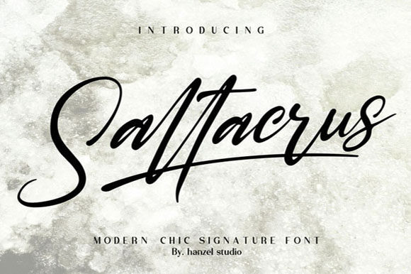 Print on Demand: Saltacrus Script & Handwritten Font By Hanzel Studio