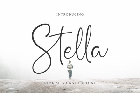 Print on Demand: Stella Script & Handwritten Font By Suby Store
