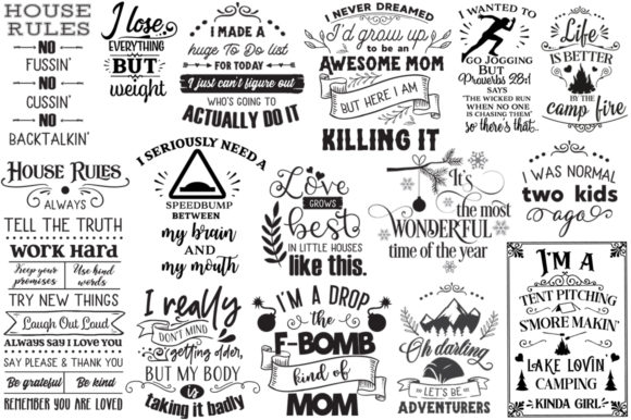 Print on Demand: The Best-Sellers Cut Files Pack Graphic Crafts By Nerd Mama Cut Files - Image 5
