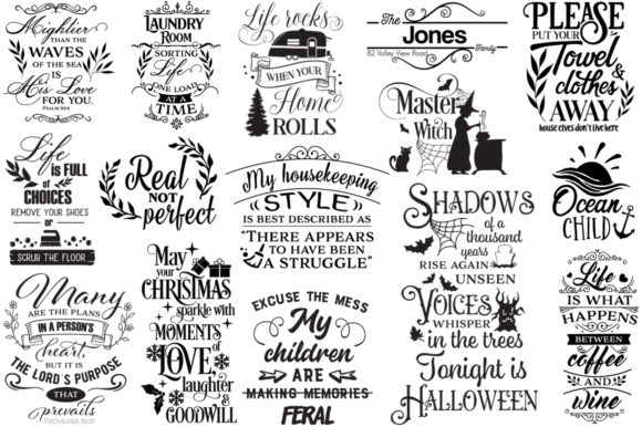 Print on Demand: The Best-Sellers Cut Files Pack Graphic Crafts By Nerd Mama Cut Files - Image 6