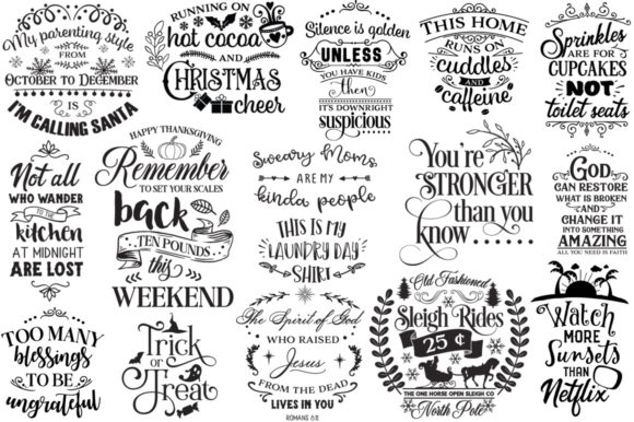Print on Demand: The Best-Sellers Cut Files Pack Graphic Crafts By Nerd Mama Cut Files - Image 7