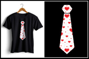 Print on Demand: Tie - Valentine's Day Tshirt Design Graphic Crafts By Zaibbb