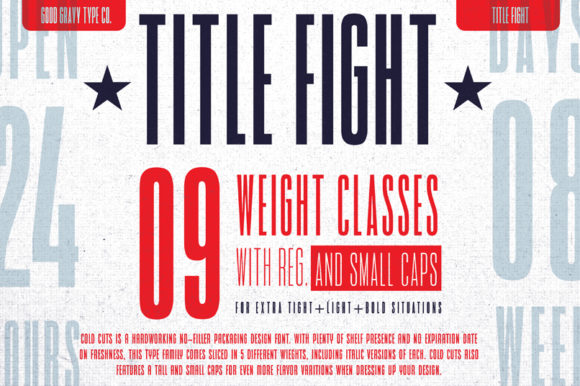 Print on Demand: Title Fight Sans Serif Font By Good Gravy Type